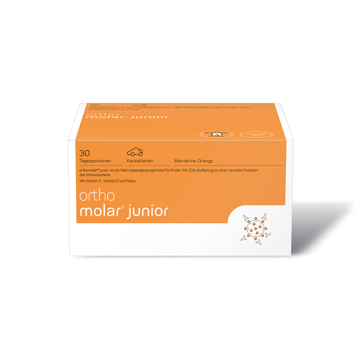 orthomed orthomolar junior Kautabletten Mandarine/Orange 30er