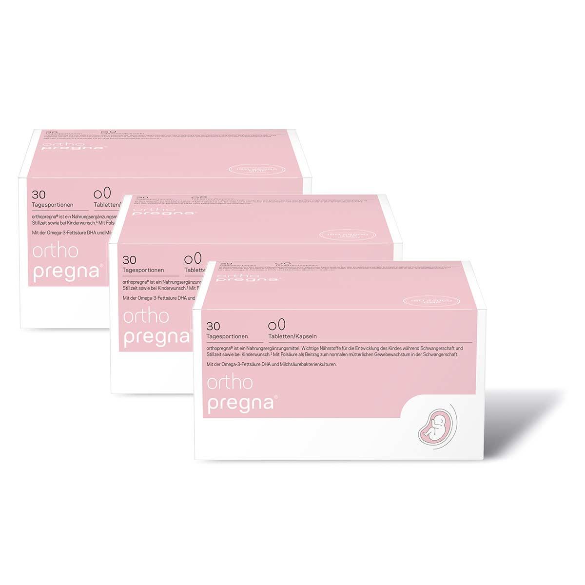 orthomol orthopregna 3x 30er Tabletten und Kapseln