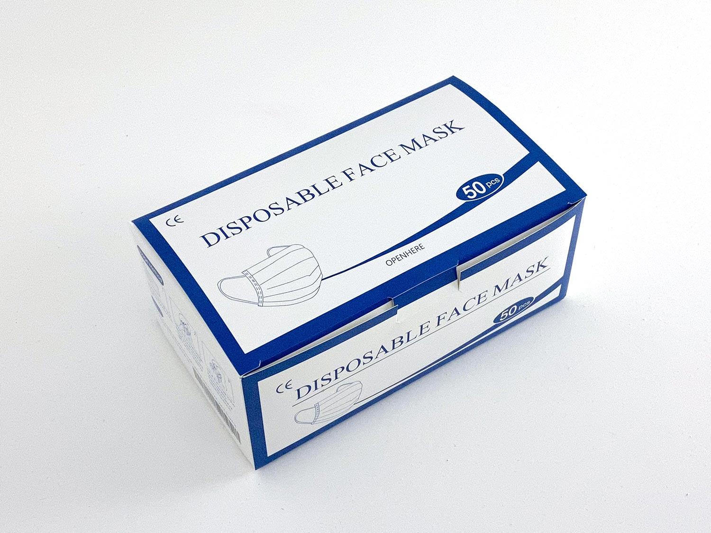 50 Stück Mundschutz Maske Atemschutzmaske Packung