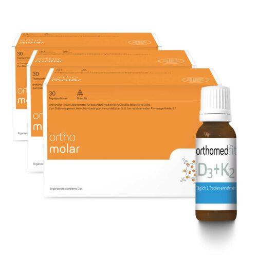 3-Monate Immunsystem Stärken Paket orthomolar® & Vitamin D3 + K2